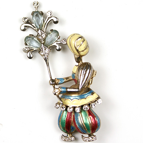 MB Boucher Indian Boy with Fan Pin Clip
