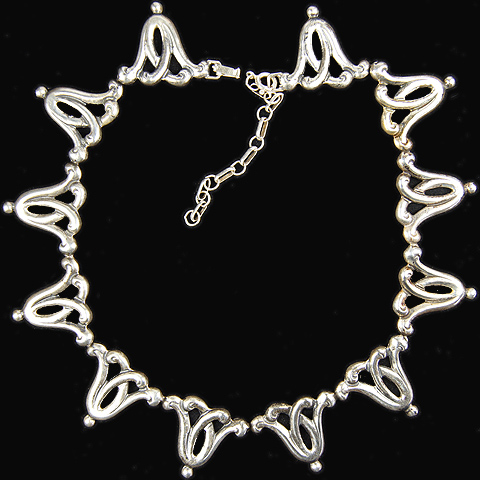 Boucher Parisina Sterling Intertwined Silver Branches Necklace