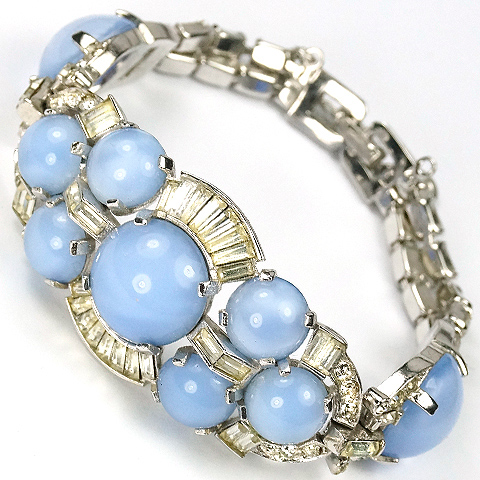 Boucher Blue Moonstone and Baguettes Bracelet