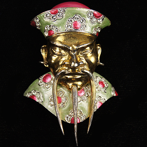 MB Boucher Metallic Enamel 'Chinese Mandarin' Pin Clip