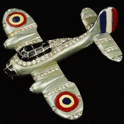 MB Boucher WW2 Patriotic French Air Force Bomber Airplane Pin