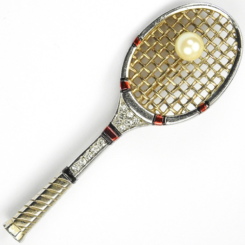 MB Boucher Tennis Racquet with Pearl Ball Pin