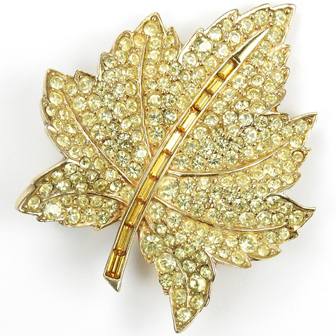 boucher gold citrine and topaz maple leaf pin