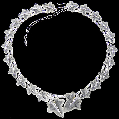 Boucher Pave and Translucent Lucite Ivy Leaves Fruit Salads Choker Necklace