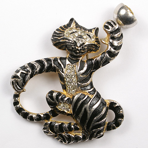 Silson Tiger with Goblet Perfume Holder Pin Clip