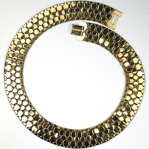 Reinad Golden Honeycomb Tesselations Choker Necklace