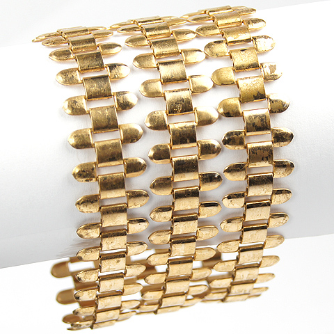 Jeray by Rice-Weiner Triple Gold Chains Bracelet