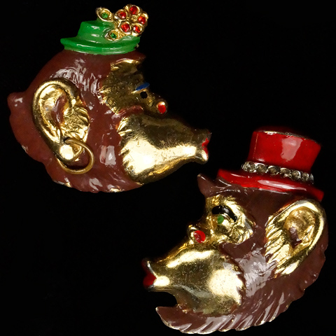 Silson Mr and Mrs Gorilla Pair of Pin Clips