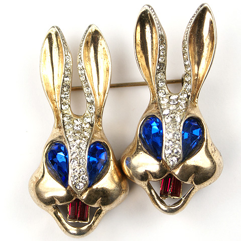 Corocraft Sterling 'Bugs Bunny' Rabbit Heads Duette