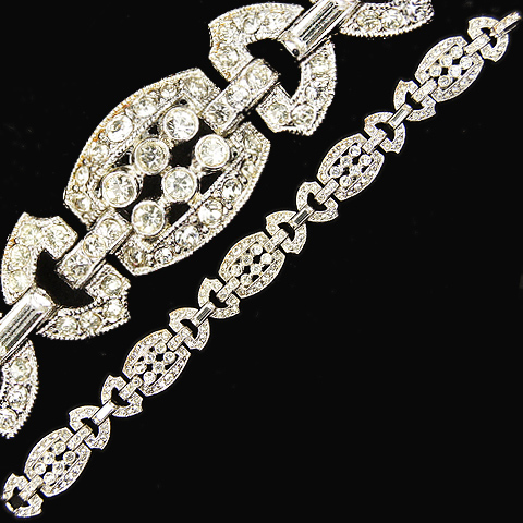 Coro Deco Pave Ds and Sixes Link Bracelet