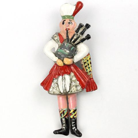 Coro 'Gene Verrecchio' Foot-Tapping Scottish Bagpiper Pin Clip
