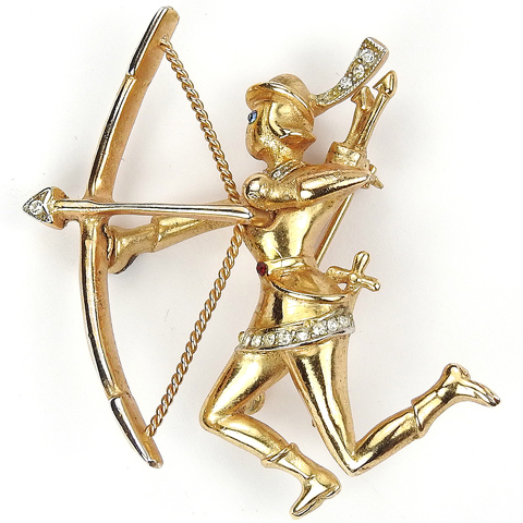 Coro Golden 'Robin Hood' Archer with Bow Pin