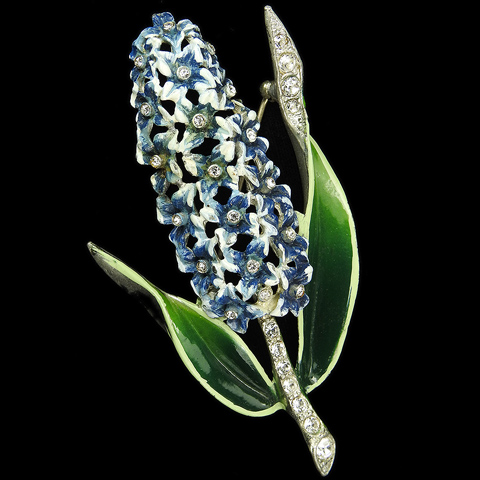 Coro Pave and Enamel Hyacinth Flower Pin