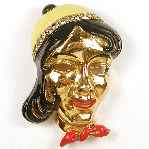 Coro French Girl - 'Putain' - in Beret Pin Clip