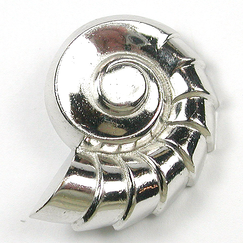 Coro Silver Seashell Pin