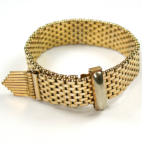 Kreisler Gold Ribbon and Tassles Bracelet