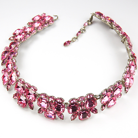 Roger Jean Pierre Made in France Pink Topaz Choker Necklace