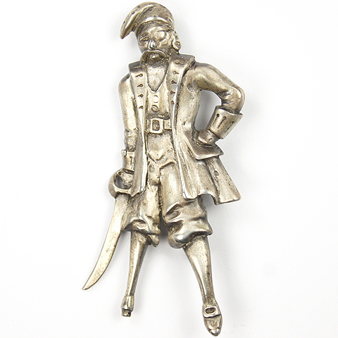 Marleen Sterling Peg Leg Pirate Pin
