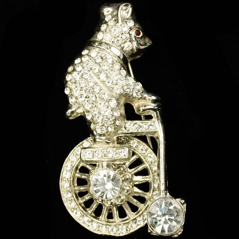 After 'Frank Gargano' Pave Bear on a Circus Bicycle Pin