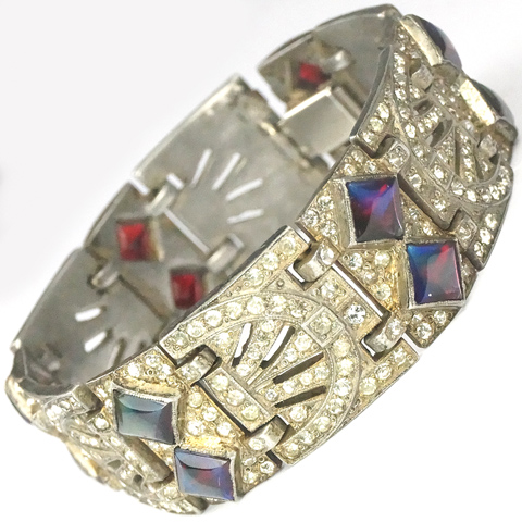 Fishel Nessler FN Co Pave and Square Cabochon Saphirets Bracelet