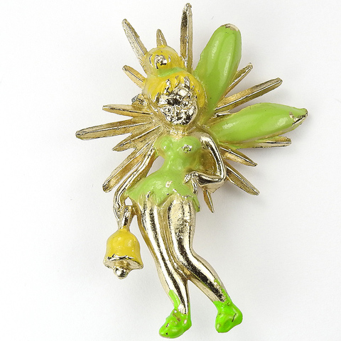 Walt Disney Gold and Enamel Tinkerbell from Peter Pan Pin