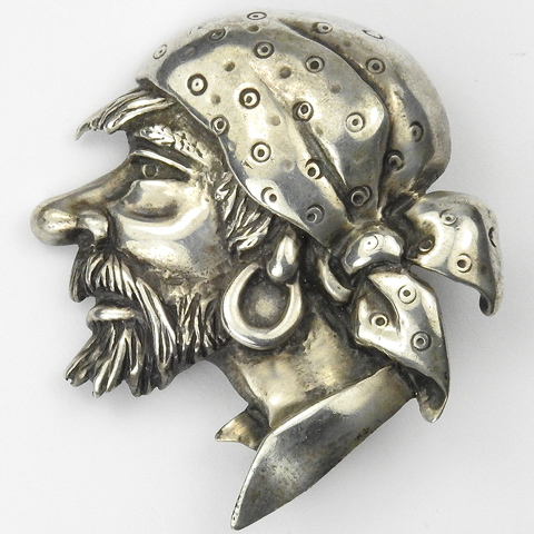 Marleen Sterling Pirate's Head Pin