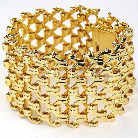 Henkel & Grosse Germany Wide Interlinked Gold Lattice Bracelet