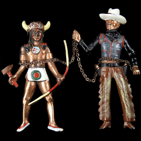 Cecil B DeMille Director of the Film 'North West Mounted Police' Chief Big Bear and Texas Ranger Chatelaine Pins