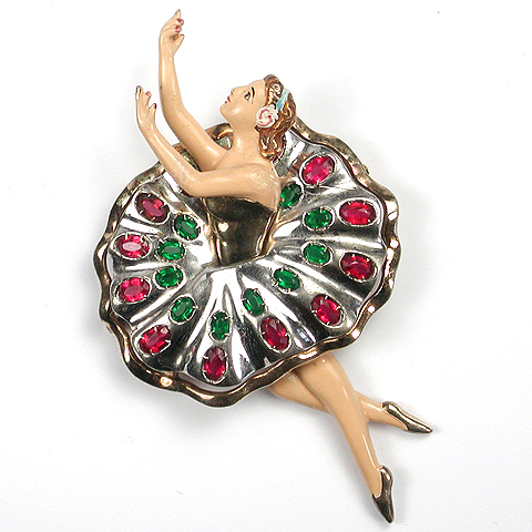 Deco Sterling and Enamel Ballerina Pin (after Natacha Brooks)