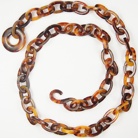 Deco Real Tortoiseshell Chain Necklace