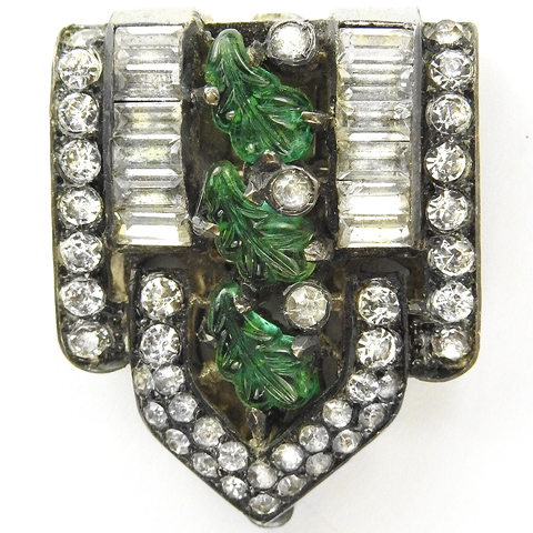 Deco Diamante Baguettes and Emerald Fruit Salads Dress Clip
