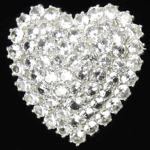 DuJay Sterling Pave Heart Pin