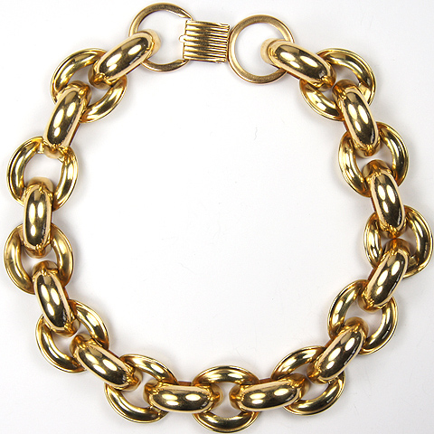 Alice Caviness Gold Filled Chain Link Choker Necklace