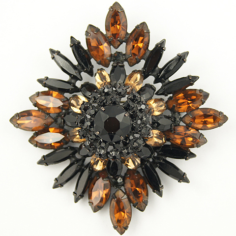 Alice Caviness Onyx and Topaz Pyramid Pin or Pendant