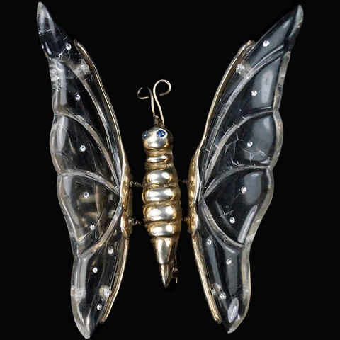 Jelly Belly Sterling Trembler Wing Butterfly Pin