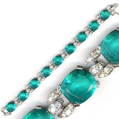 Jomaz Pave and Emeralds Link Bracelet