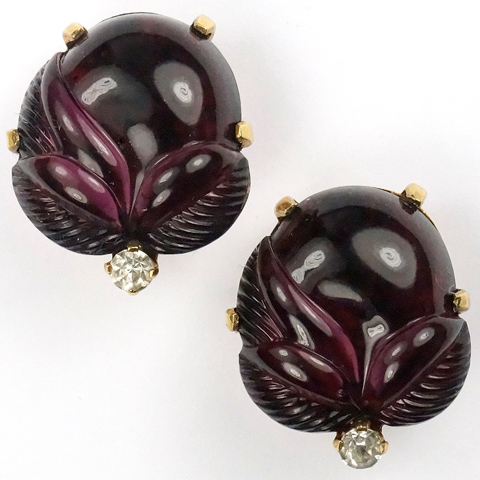 Mazer Blackcurrant Jelly Belly Fruit Salad Acorns Clip Earrings