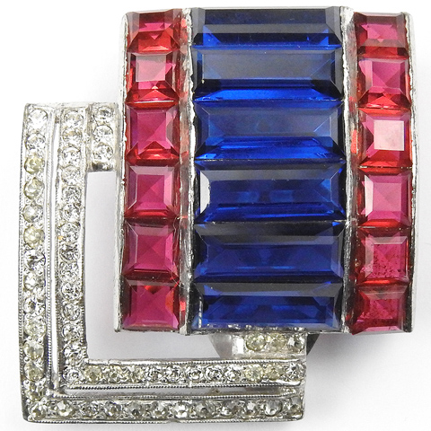 DeRosa WW2 US Patriotic Red White and Blue Dress Clip