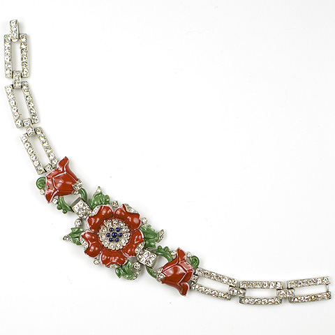 Trifari 'Alfred Philippe' Red Poppy Bracelet