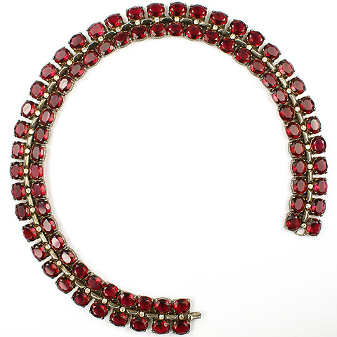 Trifari Sterling 'Alfred Philippe' Ruby Necklace