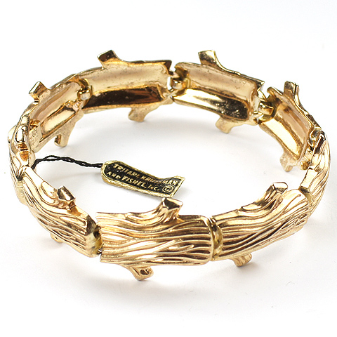 Trifari 'Alfred Philippe' 'Golden Bark' Bracelet