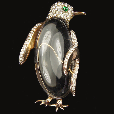 Trifari 'Alfred Philippe' Jelly Belly Penguin Pin