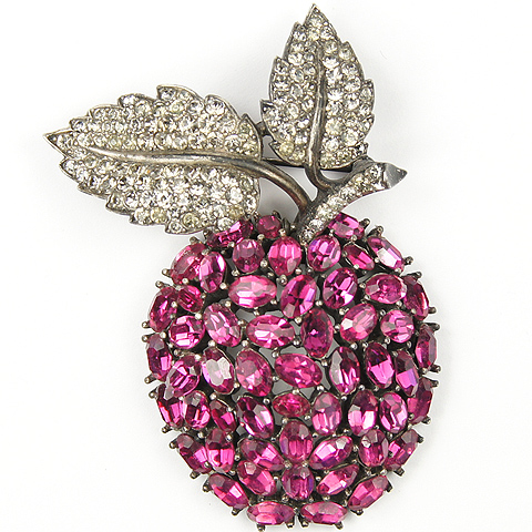 Trifari 'Alfred Philippe' Ruby Pendant Apple Pin