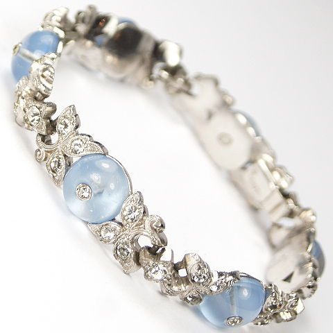 Trifari 'Alfred Philippe' Aquamarine 'Shoebutton' Bracelet