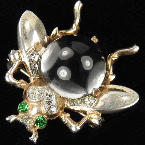 Trifari Sterling 'Alfred Philippe' Smallest Jelly Belly Bug or Fly Pin