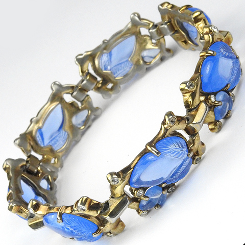 Trifari 'Alfred Philippe' Gold and Sapphire Fruit Salads Bracelet