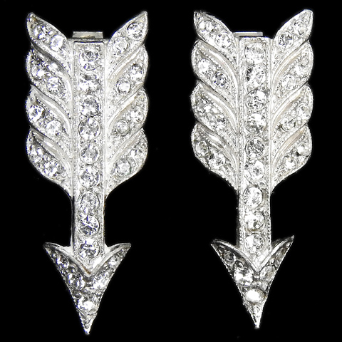 KTF Trifari 'Alfred Philippe' Pair of Arrow Dress Clips