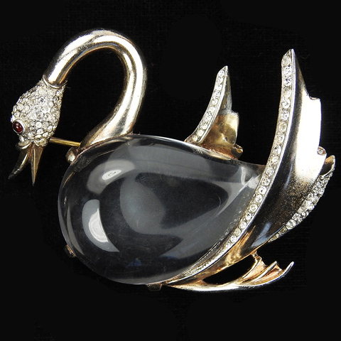 Trifari Sterling 'Alfred Philippe' Jelly Belly Swan Pin