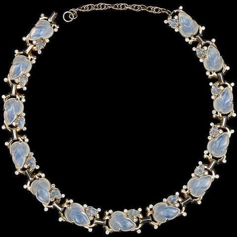 Trifari 'Alfred Philippe' Gold and Moonstone Fruit Salads Choker Necklace