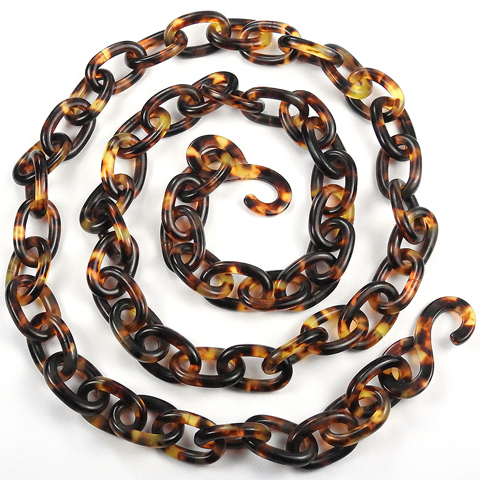 Victorian Real Tortoiseshell Chain Necklace